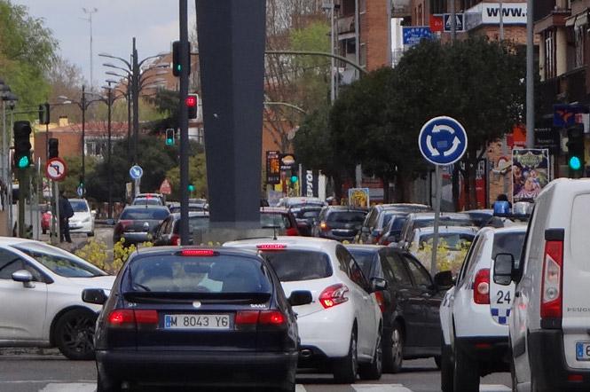 Atasco en Alcalá de Henares