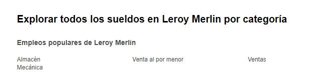 Leroy Merlín: 583 ofertas de empleo en 2021