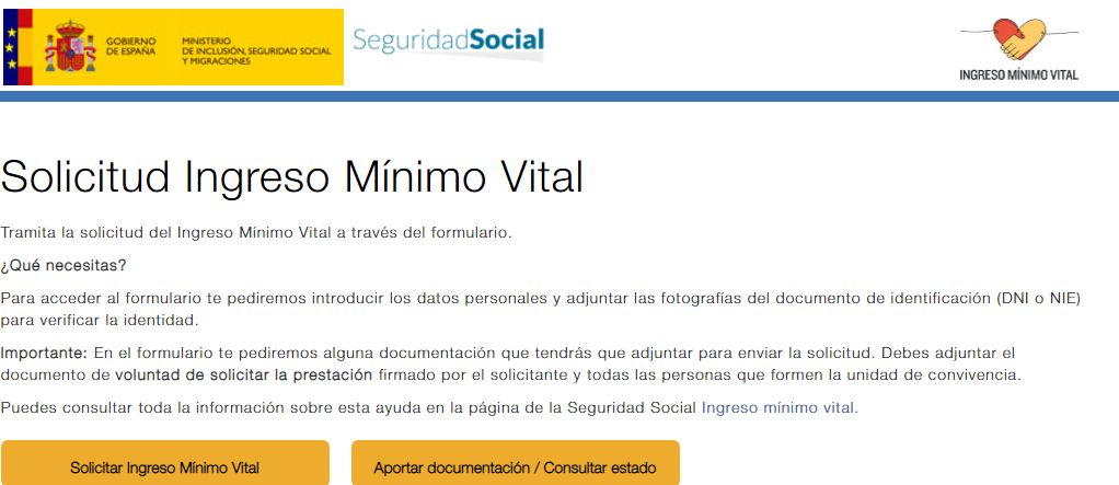 Ingreso Mínimo Vital: consulta el estado de tu solicitud.