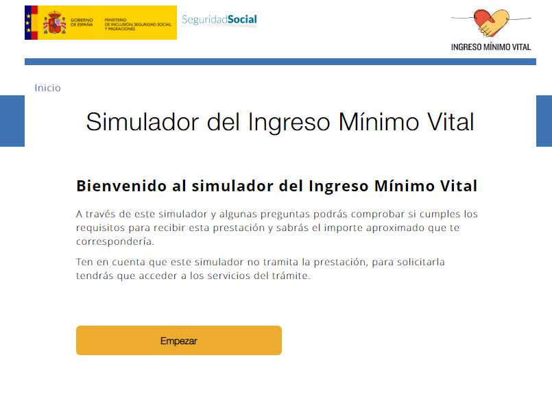 Simulador del Ingreso Mínimo Vital ¿tienes derecho a la prestación?
