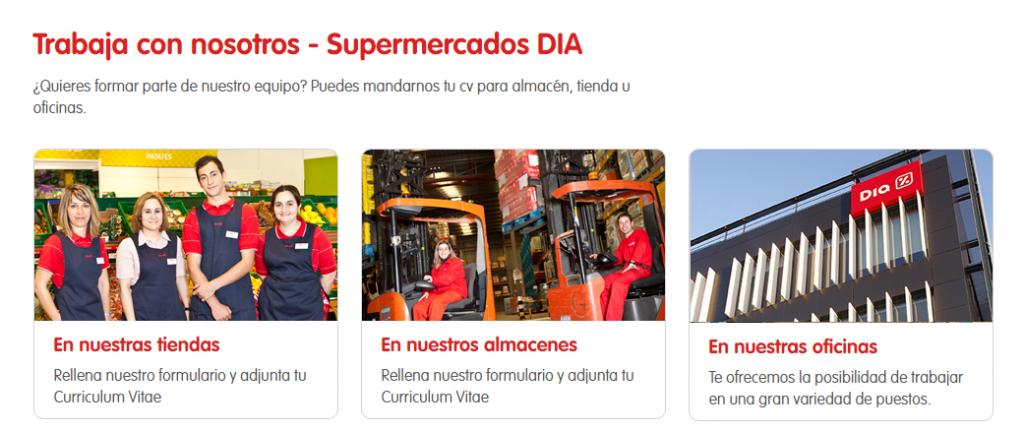 Supermercados DIA: ofertas de empleo