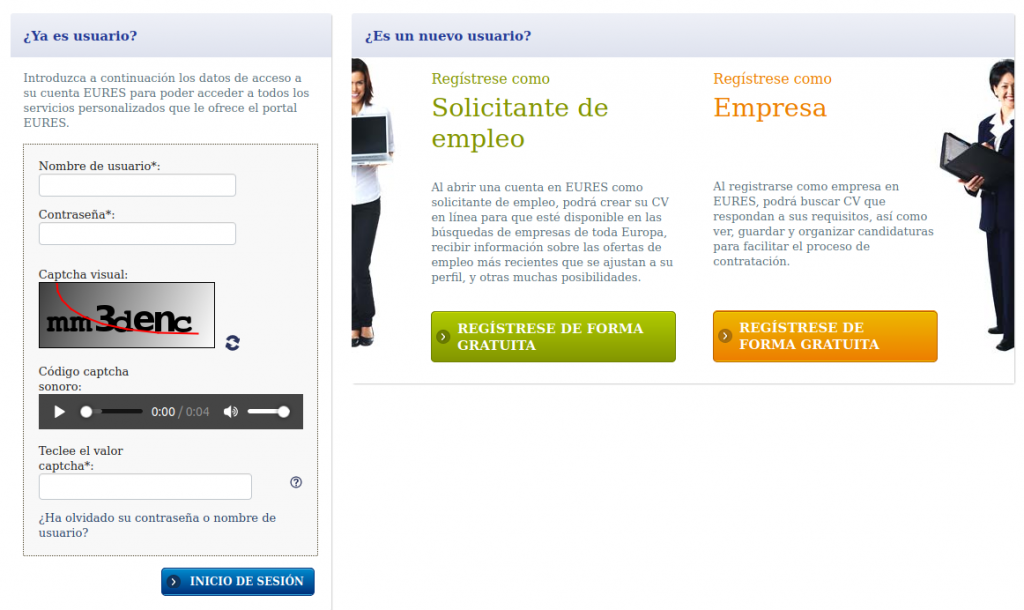 Red EURES buscar empleos suiza