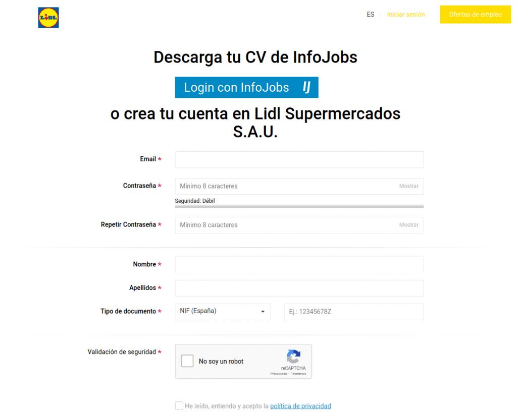 trabajar en lidl, como inscribirse en su web de empleo