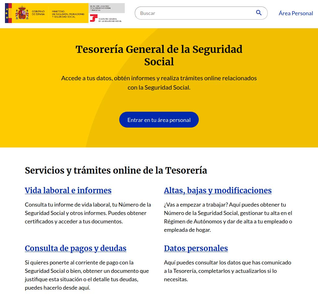 import@ss nuevo portal de la seguridad social