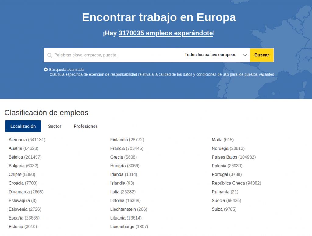 Encontrar trabajo en Europa