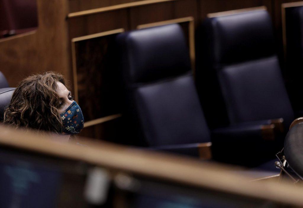 La ministra de Hacienda y Función Pública, María Jesús Montero, durante una sesión plenaria en el Congreso - EUROPA PRESS/E. Parra. POOL - Europa Press