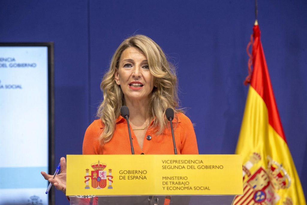 La vicepresidenta segunda del Gobierno y ministra de Trabajo y Economía Social, Yolanda Díaz