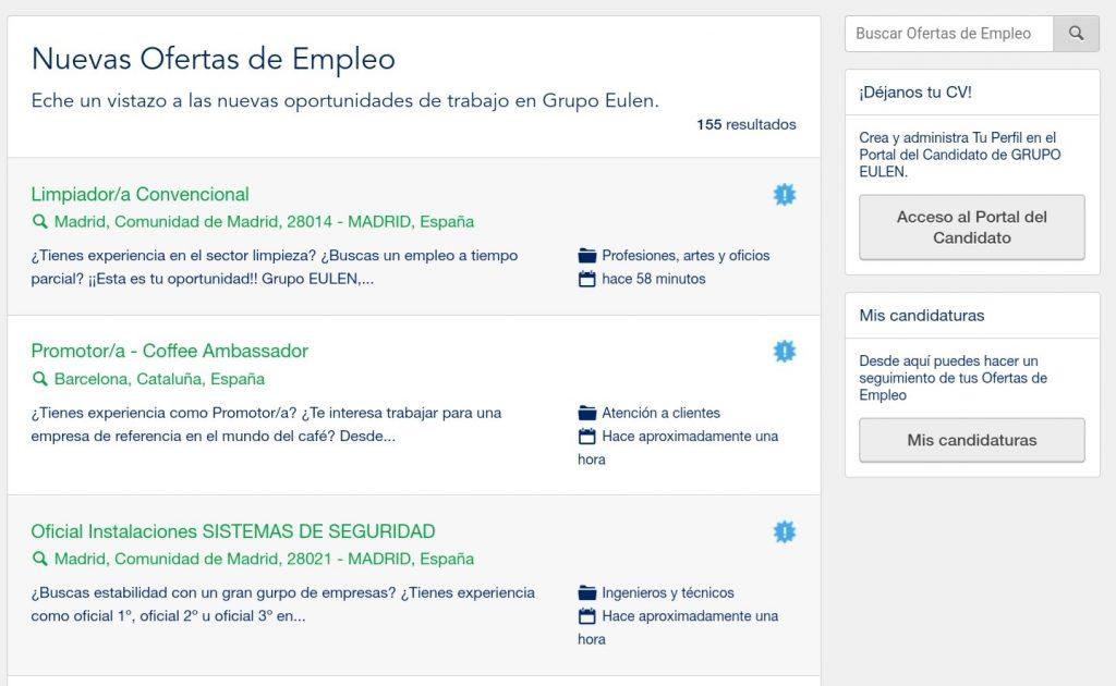Grupo Eulen lanza más de 500 nuevas ofertas de empleo con sueldos desde 1.200 euros